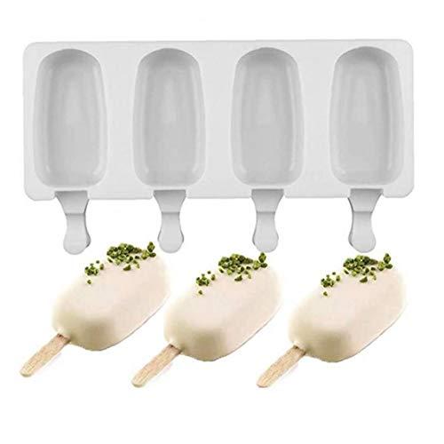 Amoyer Silikon-Eiscreme-Form-Mousse Süßigkeit Freezer Mold Holzhandgemachte...