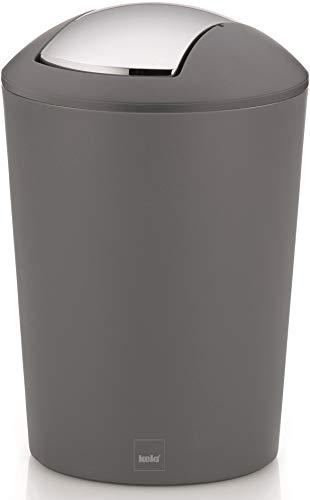 Kela Schwingdeckeleimer Marta, Kunststoff, grau, 29 cm, 19,5 cm Ø, 5 l