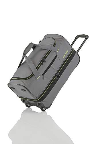 Travelite Sac de voyage à roulettes 'Basics' 70cm gris/vert Reisetasche, 70 cm,...