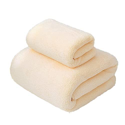 CANASG 2 Packungen weiche Badetücher Set, Handtücher, einfarbig, schnell...