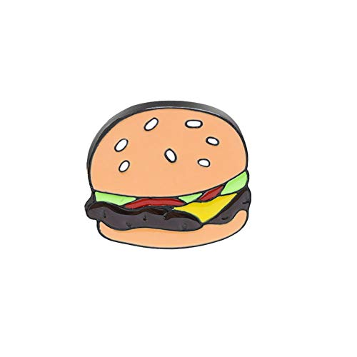 Momangel Funny Food Burger Huhn Bein Form Emaille Brosche Pin Schal Kleid...