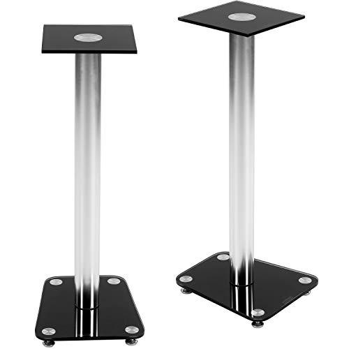 STILISTA 2er Set Lautsprecher Boxen Ständer Varianten: Klarglas und Schwarzglas...