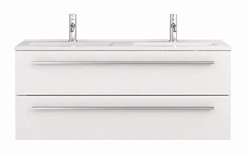 Waschtischunterschrank mit Waschbecken Libato 60 90 120 cm - weiß anthrazit...