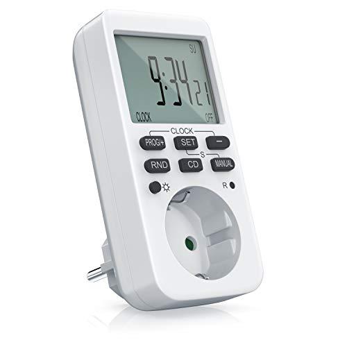 CSL - Zeitschaltuhr digital - mit LCD-Display - 3680W - 10 konfigurierbare...