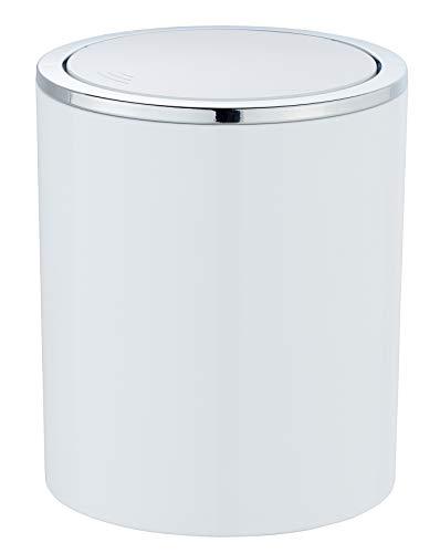 Wenko Kosmetikeimer Inca 2 Liter, Badezimmer-Mülleimer mit Schwingdeckel,...