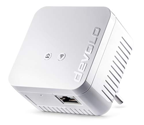 devolo dLAN 550 WiFi Powerline (Internet über die Steckdose, WLAN, 1x LAN Port,...