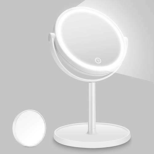Kasimir Kosmetikspiegel mit Licht Schminkspiegel mit LED Beleuchtung Make Up led...