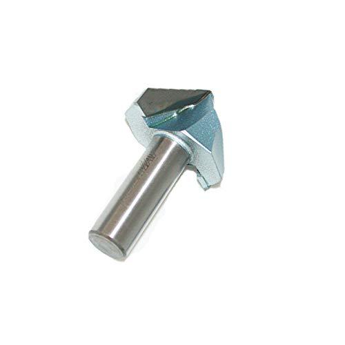 Toolstar V-Nutfräsen-Bit, 1/2-Zoll- oder 1/4-Zoll-Schaft, 90°-Karbidspitze,...