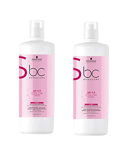 Schwarzkopf Bonacure pH 4.5 Color Freeze Micellar Rich Shampoo 2 x 1000 ml