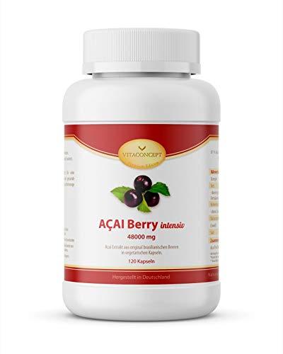 ACAI Beeren 48000 mg - Höchstmögliche Dosierung 30:1 Extrakt - Das Original...