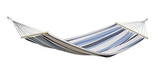 AMAZONAS Stabhängematte Samba Marine wetterfest und UV-beständig 210cm x 140cm...