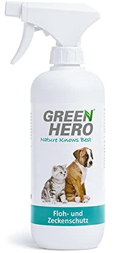 Green Hero Floh und Zeckenspray für Hunde und Katzen Flohspray Flohmittel...