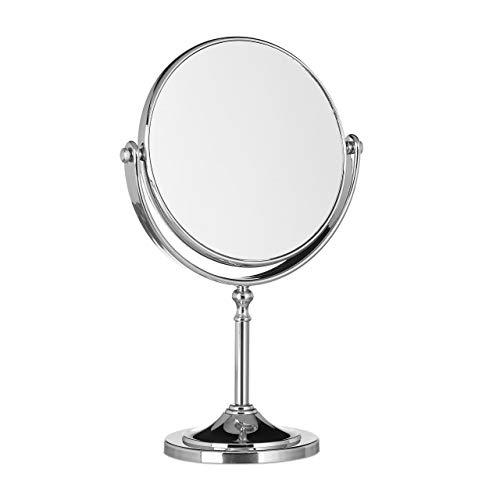 Relaxdays Kosmetikspiegel Vergrößerung, Schminkspiegel stehend, Make Up...