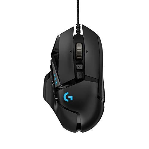 Logitech G502 HERO High-Performance Gaming Maus, HERO 16000 DPI Optischer...