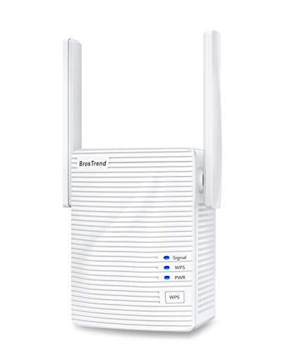 BrosTrend 1200 Mbit/s WLAN Repeater WLAN Verstärker für zu Hause, Abdeckung...