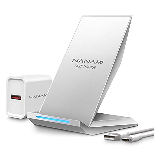NANAMI Fast Wireless Charger, Qi kabelloses Ladegerät (mit usb ladegerät Quick...