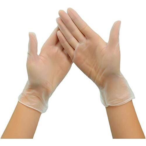 Zhongyu 100 hochwertige transparente Einweg-PVC-Handschuhe im Karton,...
