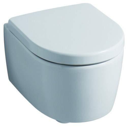 Geberit WC Sitz iCon (Deckel überlappend, Befestigung von oben, Farbe weiß,...