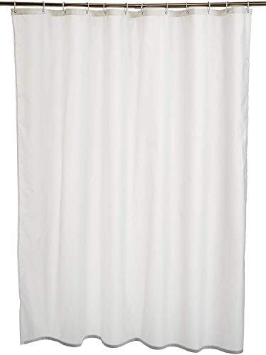 AmazonBasics Duschvorhang, Polyester, 180 x 180 cm, Weiß