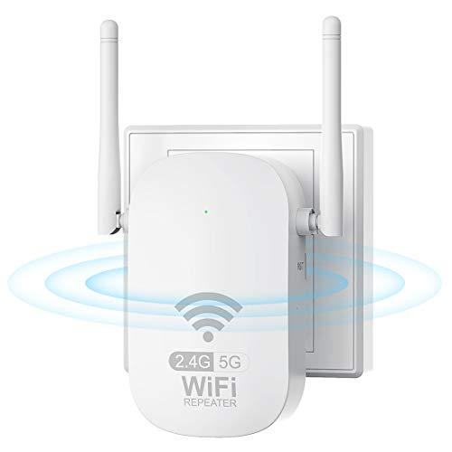 WLAN Verstärker WLAN Repeater AC1200 WiFi Extender mit LAN Port,...