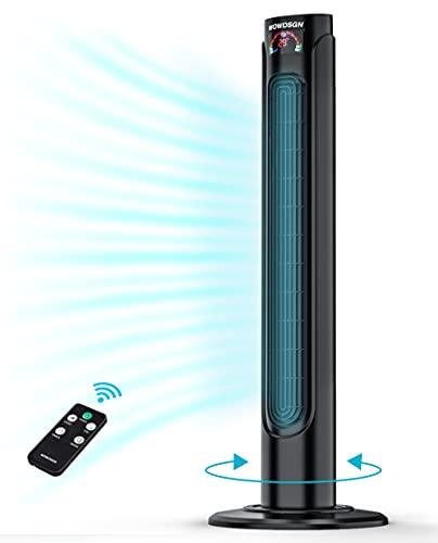 Turmventilator Leise Oszillation 90° mit Timer 15H - WOWDSGN Säulenventilator...