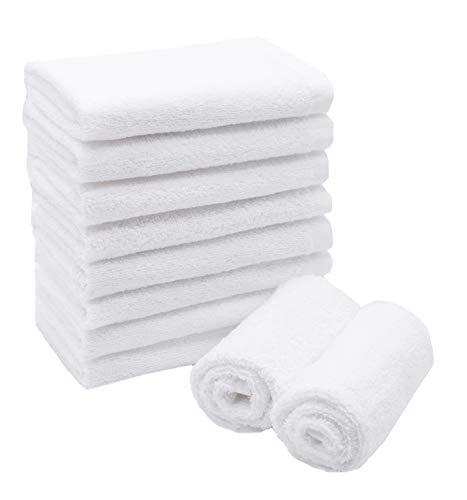 ZOLLNER 10er Set Seiftücher, 30x30 cm, 100% Baumwolle, 450g/qm, weiß