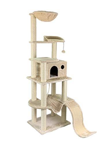 animal-design Katzen-Kratzbaum XXL beige - Fabio - mit gepolsterter...