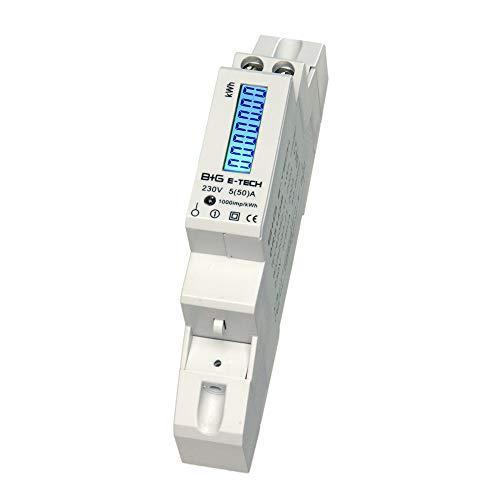 B+G E-Tech DRS155B - LCD digitaler Wechselstromzähler Stromzähler Wattmeter...