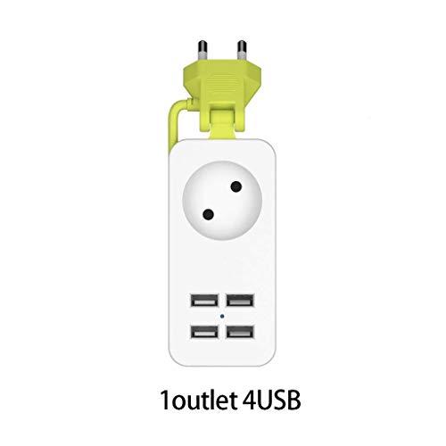 Power Strip 2 AC-Stecker-Adapter 1200W mehr tragbarer 4 USB-Anschluss Ladegerät...