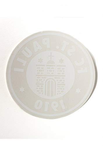 FC St. Pauli Aufkleber, Autoaufkleber XXL, Sticker Logo groß rund weiß Innen-...