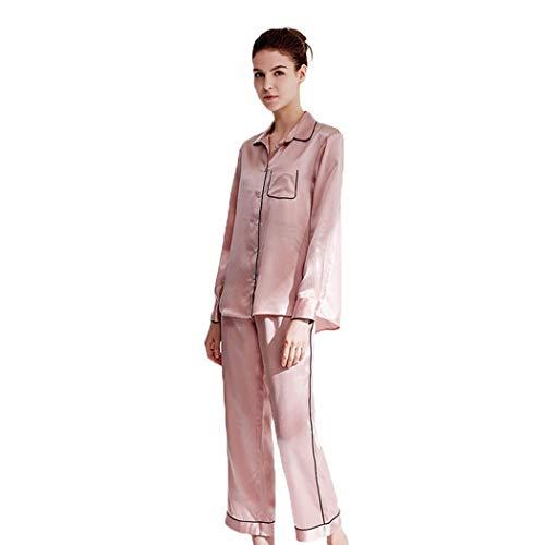 AXIANQIPJS Frauen-reizvolle Schlafanzüge Lounge Silk Solid Color Pyjamas Sets...