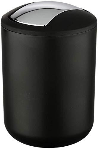 Wenko Kosmetikeimer Brasil S 2 Liter, Badezimmer-Mülleimer mit Schwingdeckel,...