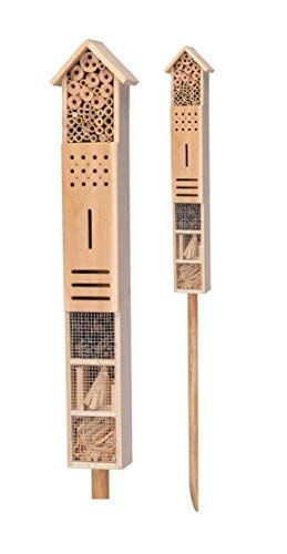 Spetebo Insektenhotel XXL mit Erdspieß - 79 cm x 15 cm x 10 cm - Stand...