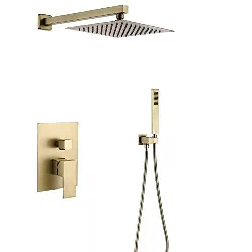 Luxuriöses Badezimmer-Duschsystem, verdeckt, quadratisch, ultradünn,...