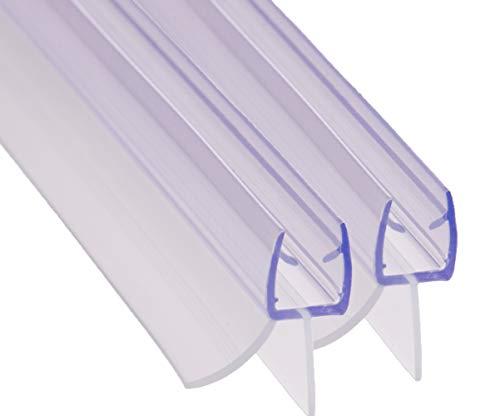REDICHT 2x 100cm Duschdichtung transparent, für Glasstärke 6mm 7mm 8mm,...