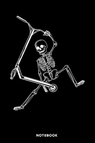 Scooter Skeleton: Lined Notebook Journal for Scooter Rider | 120 Pages | 6x9...