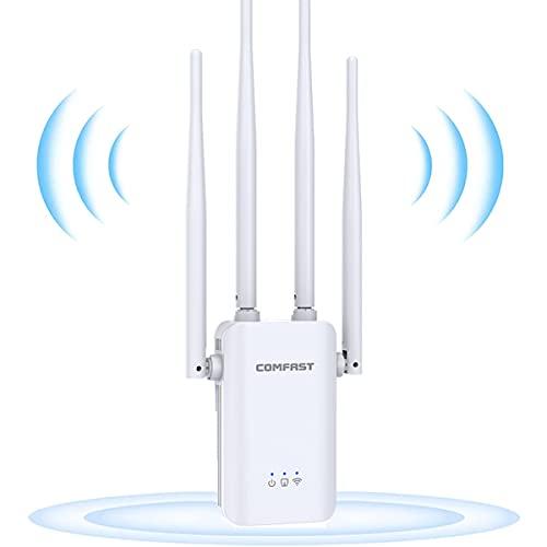 GUHUASHI WLAN Repeater,300 Mbit/s WLAN-Signal verstärker Netzwerk Extender 2,4...