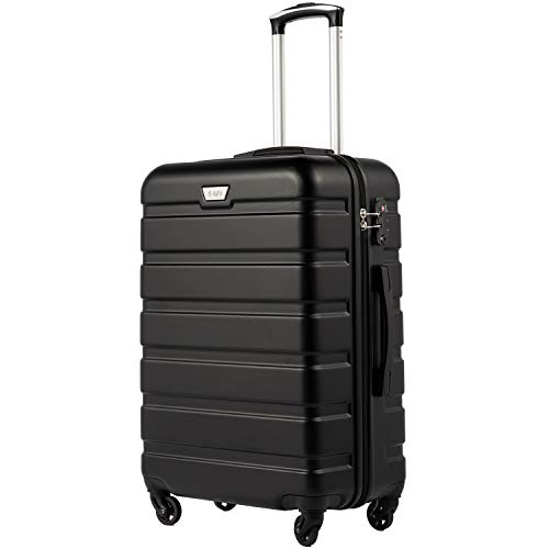 COOLIFE Hartschalen-Koffer Trolley Rollkoffer Reisekoffer mit TSA-Schloss und 4...
