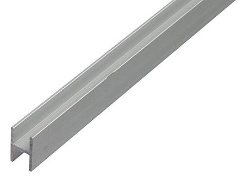 GAH-Alberts 473914 H-Profil - Aluminium, silberfarbig eloxiert, 1000 x 9,1 x 12...