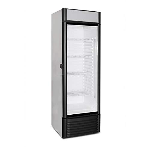 Kühlschrank mit Glastür 360 Liter Flaschenkühlschrank Getränkekühlschrank...