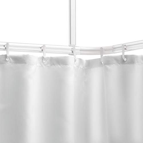 Sealskin Komplett Set Easy Roll Duschvorhangstange, Farbe: Weiß,...