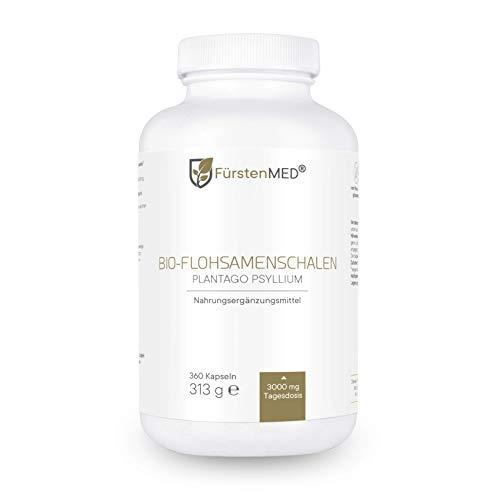 FürstenMED® 360 Bio Flohsamenschalen Kapseln - Hochdosiert 3000 mg pro...