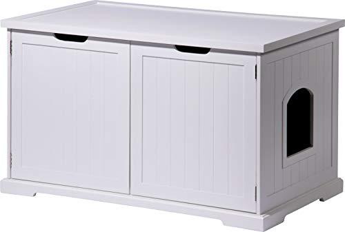 dobar 35263 Großer Designer-Katzenschrank 'Mohrle XL' mit Schublade, 95 x 54 x...