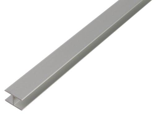 GAH-Alberts 030180 H-Profil - selbstklemmend, Aluminium, silberfarbig eloxiert,...