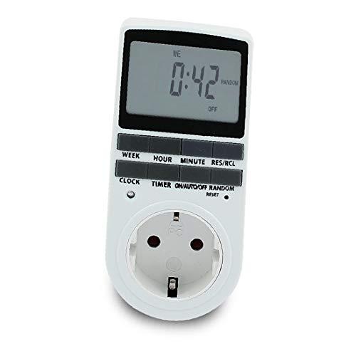 X-DREE AC 230V EU LCD-Anzeige Digitaler elektronischer programmierbarer Timer...