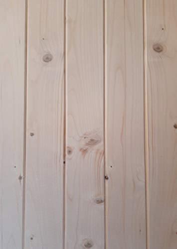 AZZAP Profilbretter Profilholz Fassadenprofil Fasebretter 15x90mm Länge:150cm...