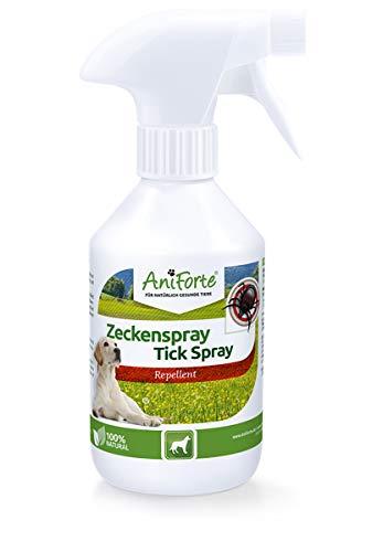 AniForte Zeckenspray für Hunde 250ml - Natürlicher Zeckenschutz gegen Zecken,...