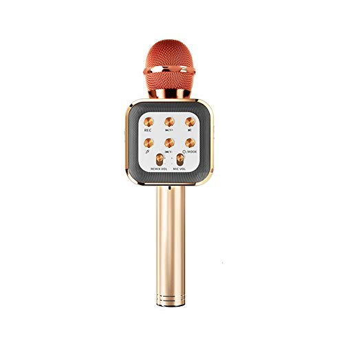 Karaoke-Mikrofon, 4-in-1 Wireless Bluetooth Tanzen LED-Licht, bewegliche Hand...