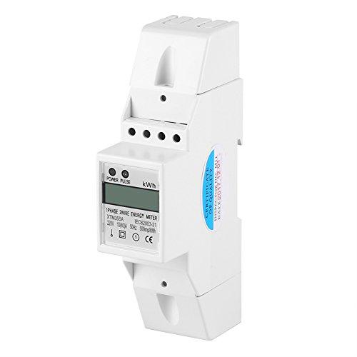 Hilitand Hutschiene Stromzähler Digital LCD einphasig DIN-Schiene Stromzähler...