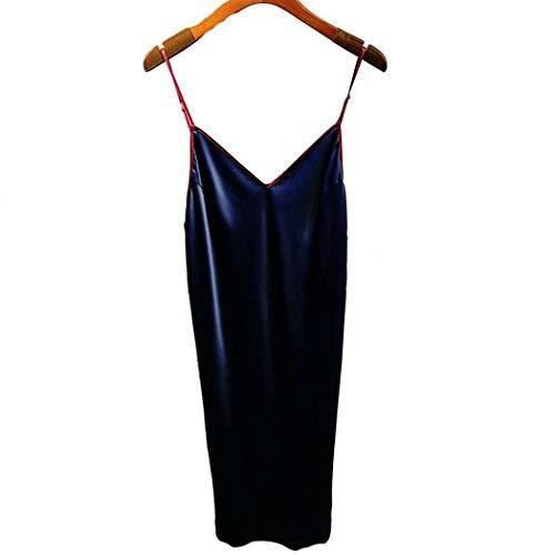 AXIANQIPJS Frauen Sommer Schlafanzüge Silk Leibchen Nachthemd Sexy Homewear...